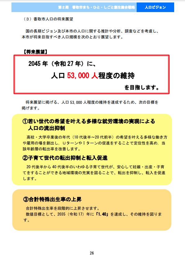 第2期香取市まち・ひと・しごと創生総合戦略p26